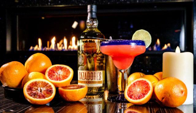 Fuego margarita bar's blood orange margarita is delicious