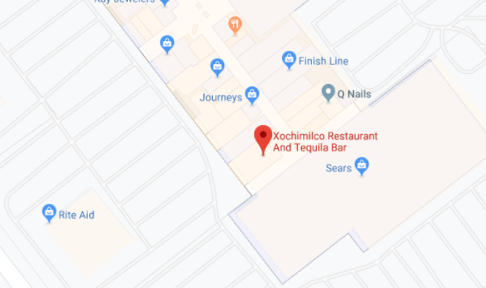 Image of Google Maps location for Xochimilco Tequila Bar 2
